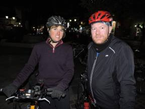 On a night ride with Steven, my Warm Showers host